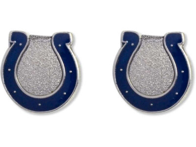 Indianapolis Colts Logo Post Earrings