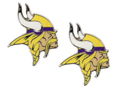 Minnesota Vikings Logo Post Earrings