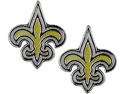 New Orleans Saints Logo Post Earrings