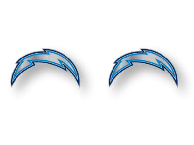 San Diego Chargers Logo Post Earrings