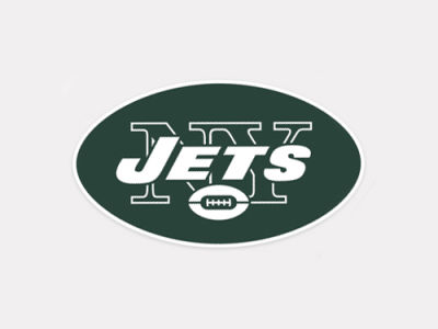 New York Jets 4x4 Die Cut Decal Color