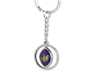 Minnesota Vikings Rubber Football Spinning Key Ring