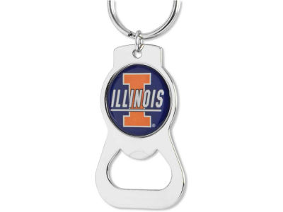 Illinois Fighting Illini Aminco Bottle Opener Keychain