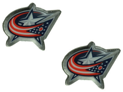 Columbus Blue Jackets Logo Post Earrings