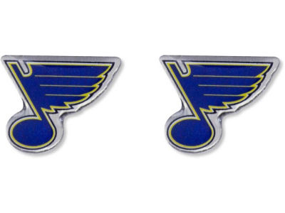 St. Louis Blues Logo Post Earrings
