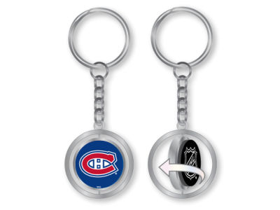 Montreal Canadiens Rubber Puck Spinning Key Ring