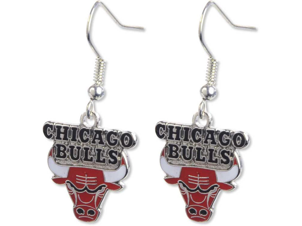 Chicago Bulls Logo Earrings