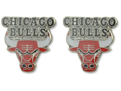 Chicago Bulls Logo Post Earrings