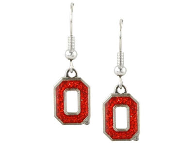 Ohio State Buckeyes Glitter Dangle Earrings Aminco