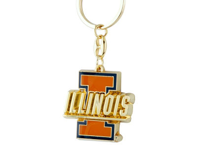 Illinois Fighting Illini Heavyweight Keychain
