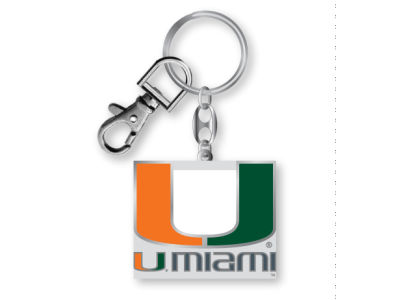 Miami Hurricanes Heavyweight Keychain