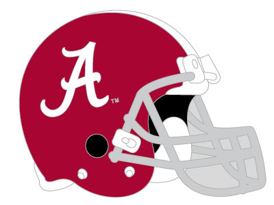 Alabama Crimson Tide Helmet Pin