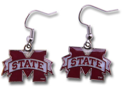 Mississippi State Bulldogs Logo Earrings
