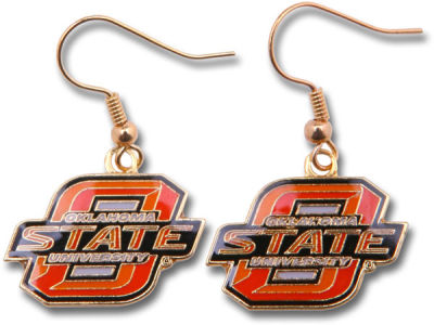 Oklahoma State Cowboys Logo Earrings