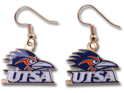 University of Texas San Antonio Roadrunners Logo Earrings