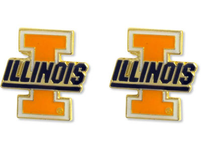 Illinois Fighting Illini Logo Post Earrings