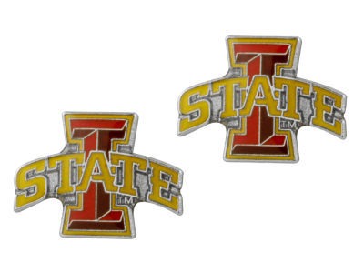 Iowa State Cyclones Logo Post Earrings