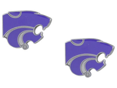 Kansas State Wildcats Logo Post Earrings
