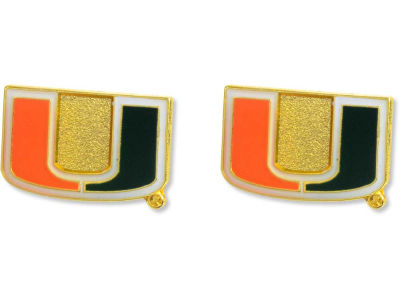 Miami Hurricanes Logo Post Earrings