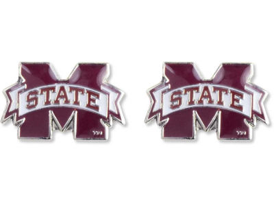 Mississippi State Bulldogs Logo Post Earrings