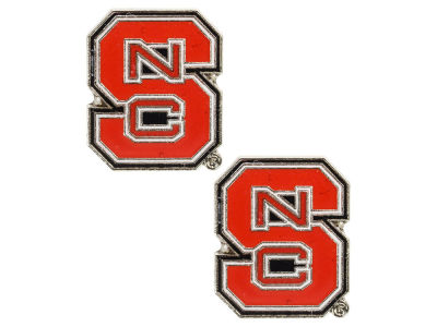 North Carolina State Wolfpack Logo Post Earrings