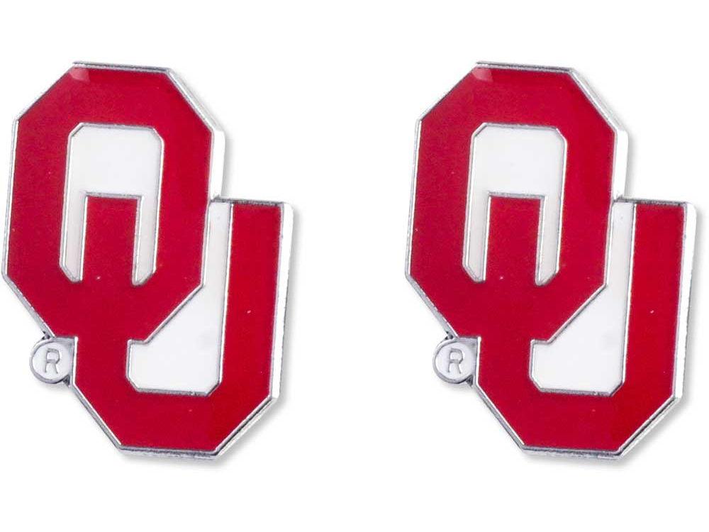 Oklahoma Sooners Logo Post Earrings Lids