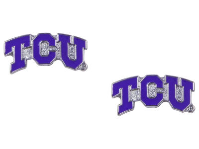 Texas Christian Horned Frogs Logo Post Earrings