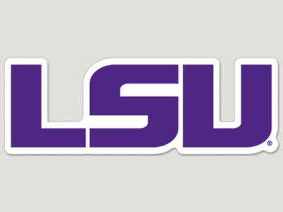 LSU Tigers Die Cut Color Decal 8in X 8in