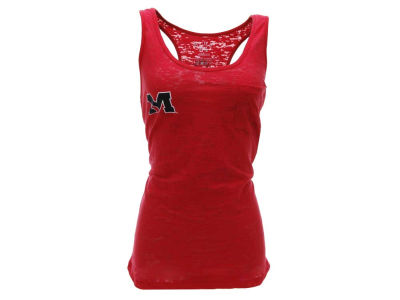 Ole Miss Rebels Blue 84 NCAA Womens Mini Stroll Burnout Tank