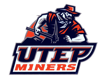UTEP Miners 4x4 Magnet