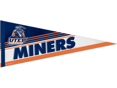 UTEP Miners 12x30in Pennant