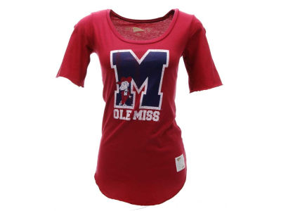 Ole Miss Rebels NCAA Womens DR Scoop Back T-Shirt