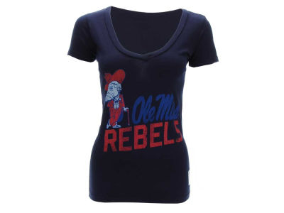 Ole Miss Rebels NCAA Womens DR Triblend Vneck T-Shirt