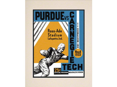Purdue Boilermakers Matted 10.5x14 Historic Progam Cover