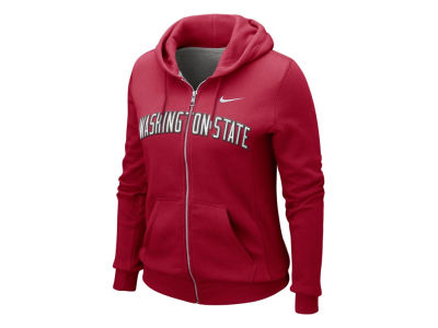 Washington State Cougars Nike NCAA Womens Full Zip Hoodie