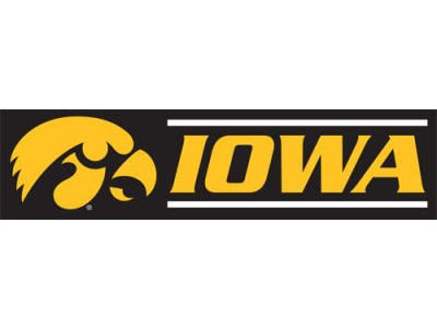 Iowa Hawkeyes 8-FT Banner