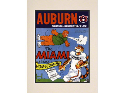 Auburn Tigers Matted 10.5x14 Historic Progam Cover