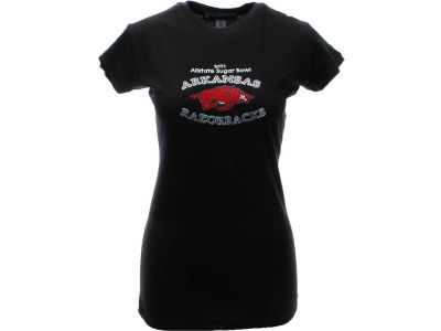 Arkansas Razorbacks 2011 Sugar Bowl Juniors T-Shirt Studded
