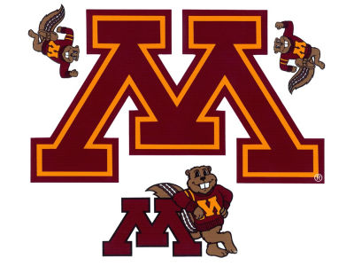 Minnesota Golden Gophers 12x12 Multipack Magnet