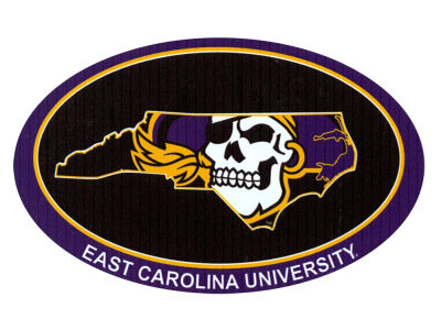 East Carolina Pirates 4x4 Magnet