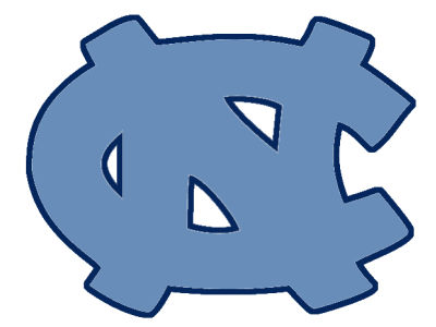 North Carolina Tar Heels 4x4 Magnet