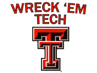 Texas Tech Red Raiders Moveable 12x12 Decal