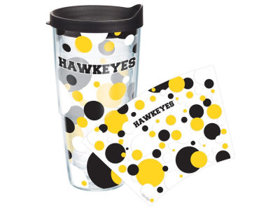Iowa Hawkeyes 24oz. Polka Dot Tumbler With Lid