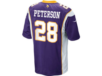 Minnesota Vikings Adrian Peterson Nike NFL Game Jersey Extended Size