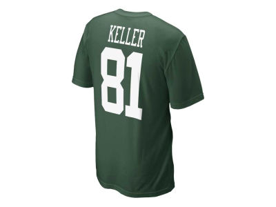 New York Jets Dustin Keller Nike NFL Name and Number T-shirt