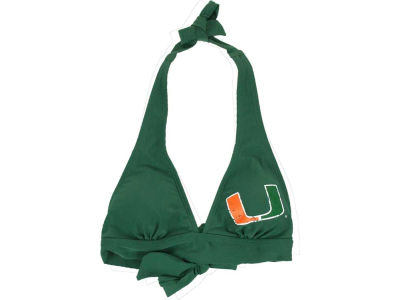 Miami Hurricanes NCAA Fanatic Bikini Halter Top
