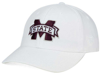 Mississippi State Bulldogs Top of the World NCAA White PC Cap