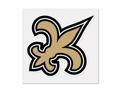 New Orleans Saints 4x4 Die Cut Decal Color
