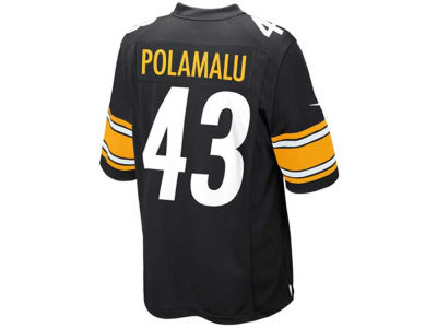 Pittsburgh Steelers Troy Polamalu Nike NFL Youth Game Jersey