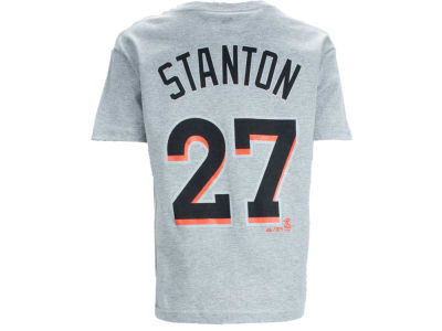 Miami Marlins Giancarlo Stanton Majestic MLB Youth Player T-Shirt